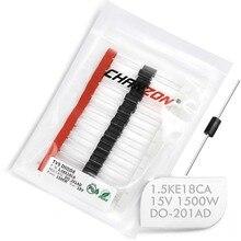 (20 pièces) Diodes tv 1.5KE18CA 1500 W 18 V DO-201AD (DO-27) canal bidirectionnel 1500 Watt 18 volts