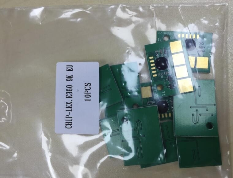 Impresora fichas E360 E460 E462 para Lexmark laserjet toner cartucho 5 unids/lote
