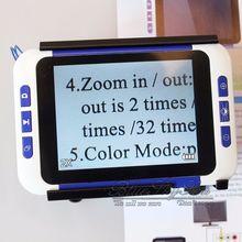 """Boblov 2-32x 3.5 """"cor lcd lupa leitura eletrônica digital lupa baixa visão para leitura auxílio lupa electronique vergrootglass"""