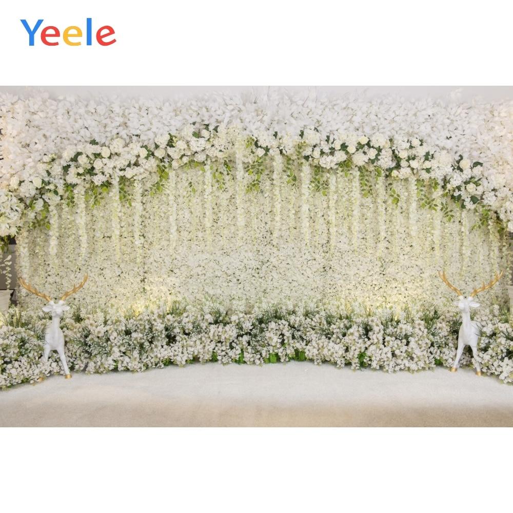 Yeele boda ceremonia Pared de flores Elks hogar belleza fotografía fondos fotográficos personalizados para estudio fotográfico