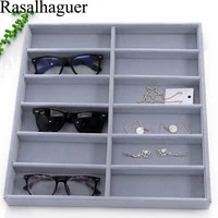 luxury ice gray 12 grids sunglasses display box sunglasses display glasses display props jewelry organizer tray fashion cases