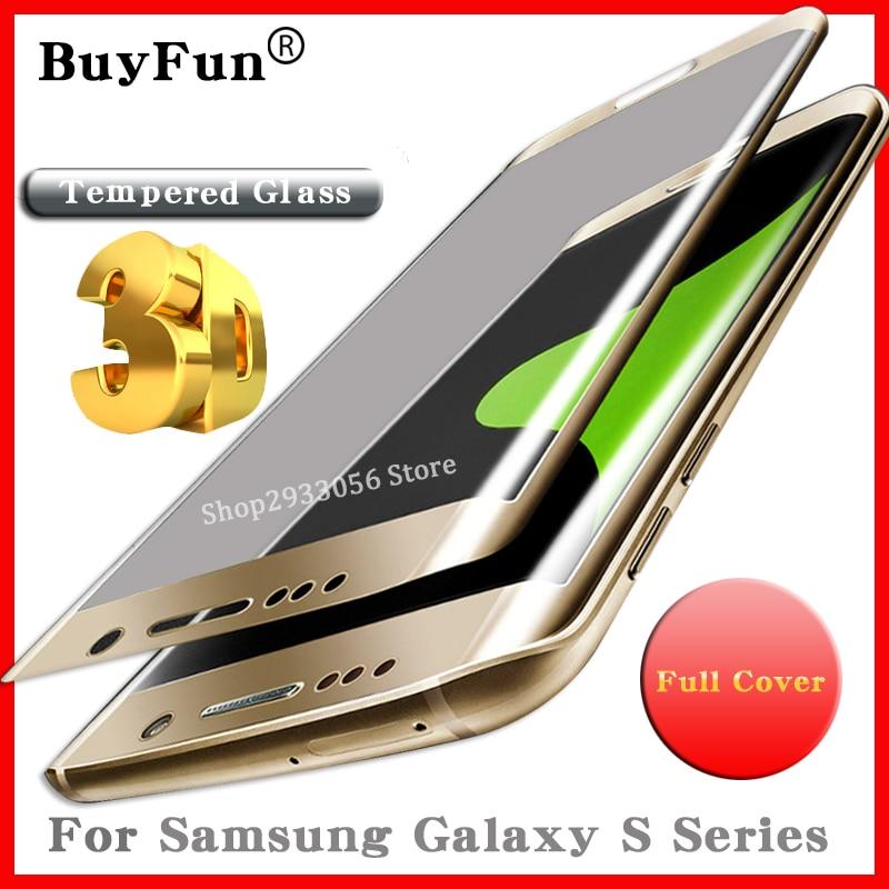 Vidrio Protector para Samsung Galaxy 7 edge cubierta completa vidrio templado S7edge S8 S6 edge plus tremp Protector de pantalla S8 plus
