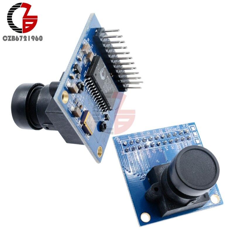 Diy 640x480 cmos ov7670 módulo de câmera lente alta qualidade com interface sccb al422 3m-bits fifo stm32 chip driver módulo