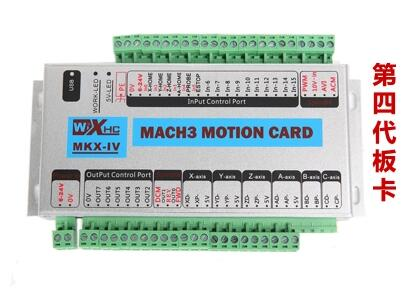 Tarjeta de Control MACH3 controlador CNC máquina de grabado placa de interfaz de tarjeta de Control de movimiento tablero de 4 ejes