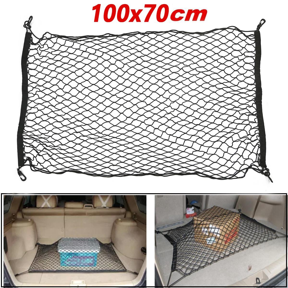 Car SUV rear trunk nylon net luggage cargo Storage bag Automobiles Back Rear Trunk Elastic String Holder Pocket auto goods