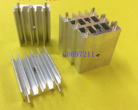 Radiador de aluminio Transistor 10 unids/lote TO-220.247 de envío gratis, 30*23,5*9mm con doble aguja de refrigeración, disipador térmico
