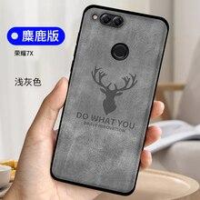 Für Funda Huawei Honor 7X Fall Silikon Weiche TPU Tuch Deer Hero Superman Abdeckung Für Huawei Ehre 7 X Honor7X telefon Casse Coque