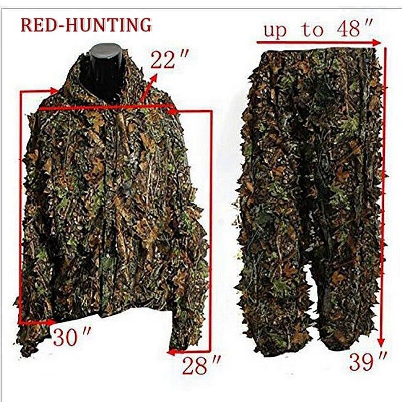 Los hombres de la ropa deportiva de caza CS juego ClothingHunting traje Ghillie 3D Camo biónico de camuflaje selva bosque aves Poncho