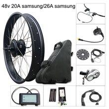 Electric Bike Kit 1000w Fat Tire Motor Wheel E Bike Kit 48V 20A/26A  Electric Bicycle Conversion Kit for Rear Hub Motor