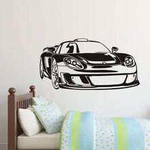 Fashion Sport Car Wall Sticker E-co Friendly Vinyl Wall Decal Boys Bedroom Decor Perfect Quality Wallpaper Design Mural SA550