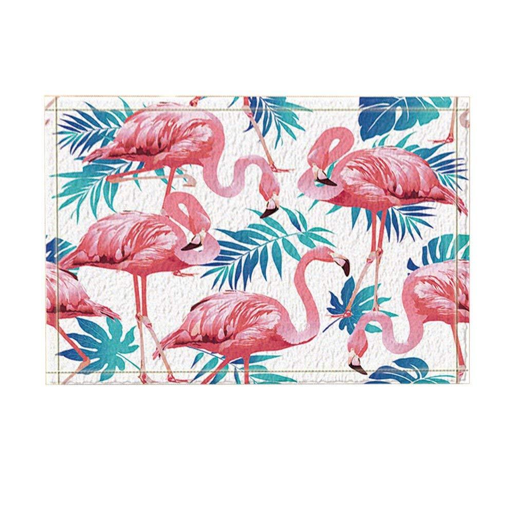Пальмовые Листья Декор Фламинго Птица и тропические цветы с листьями коврики для