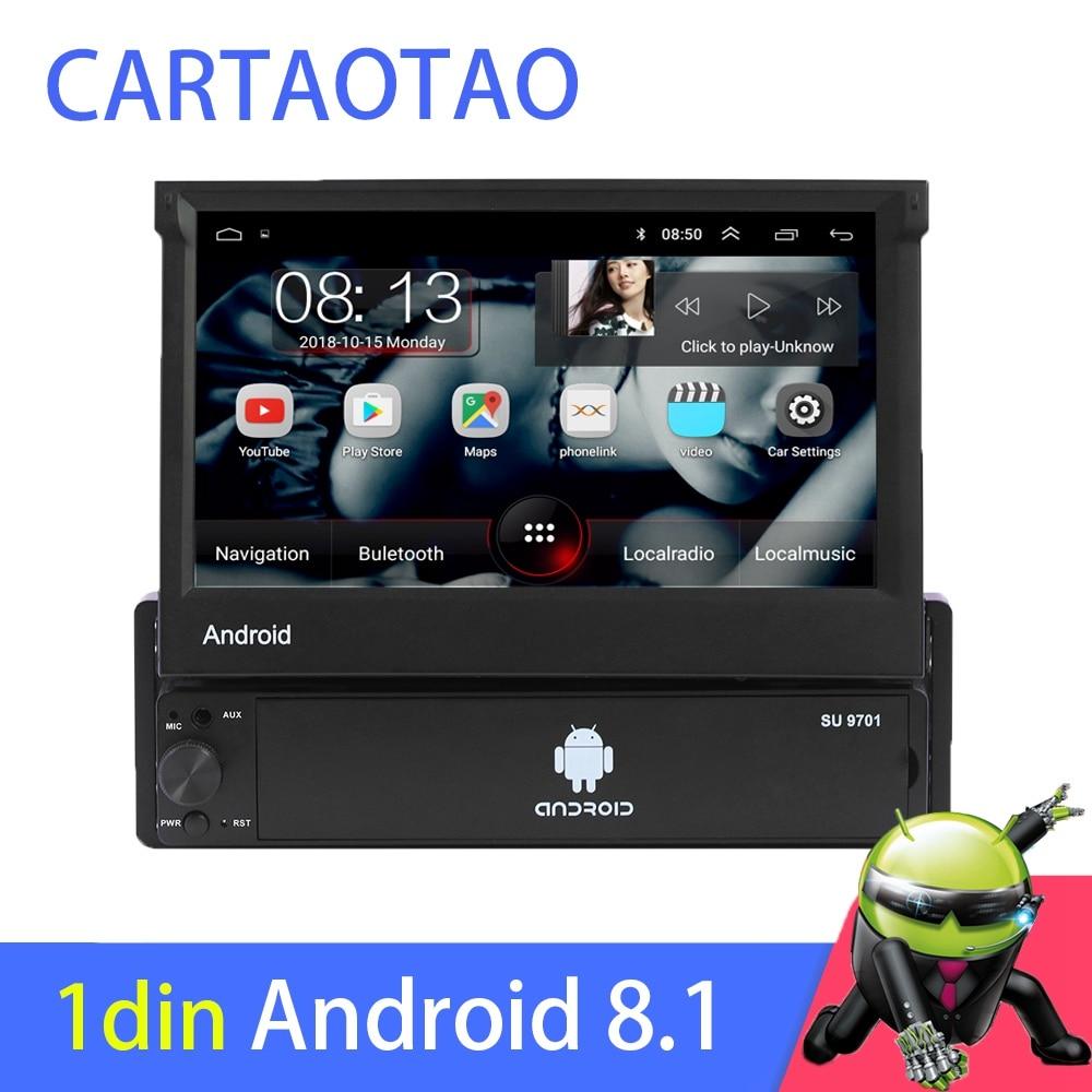"1din Android 8,1 ir Quad-Core navegación GPS con DVD para coche Player 7 ""Universal coche Radio WiFi Bluetooth MP5 reproductor Multimedia"