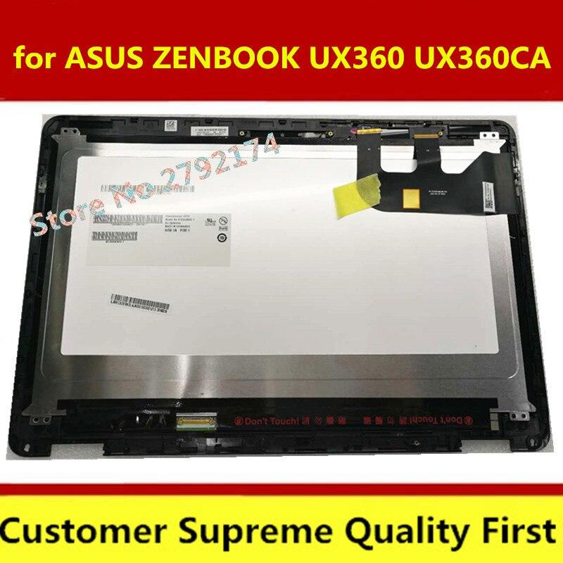 Envío Gratis pantalla táctil de reemplazo de montaje LCD LED de 13,3 pulgadas para Asus UX360C Series UX360CA WUXGA FHD con bisel frontal