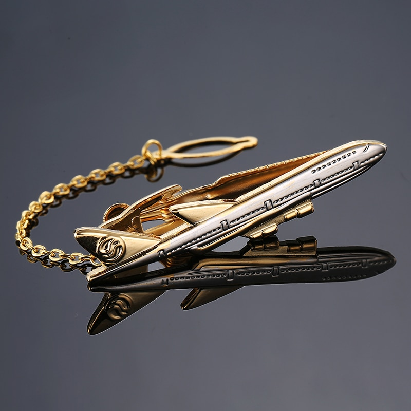 Corbata clásica para Bar Spitfire, diseño de avión, Clip para corbata, clips para corbata, Pin para hombre, regalo de boda de alta calidad, joyería de marca
