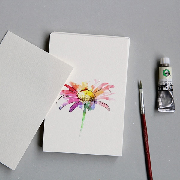 The watercolor paper blank DIY Postcard paper hand-painted postcards white cardboard youth homemade cartoon card