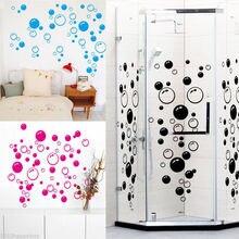 Настенные художественные наклейки «сделай сам» для детской ванной и душа, съемные декоративные наклейки на стену для дома, декоративные наклейки, наклейки с пузырьками