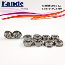 Kande Bearings 10PCS MF85ZZ MF85Z MF85 MF85 ZZ  MF85 Miniature Flange Bearing F5x8x2.5mm