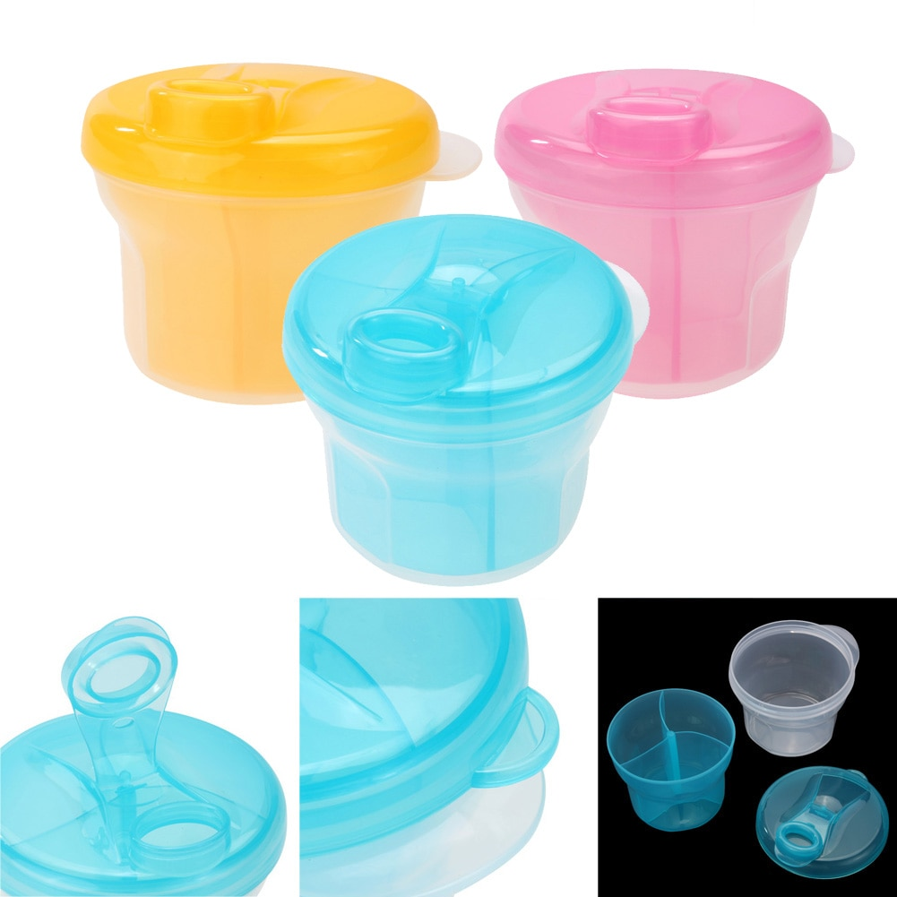 1pc Portable Milk Powder Formula Dispenser 3 Layer Rotary Milk Powder Tank Box Baby Feeding Storage Box Toddler Food Container