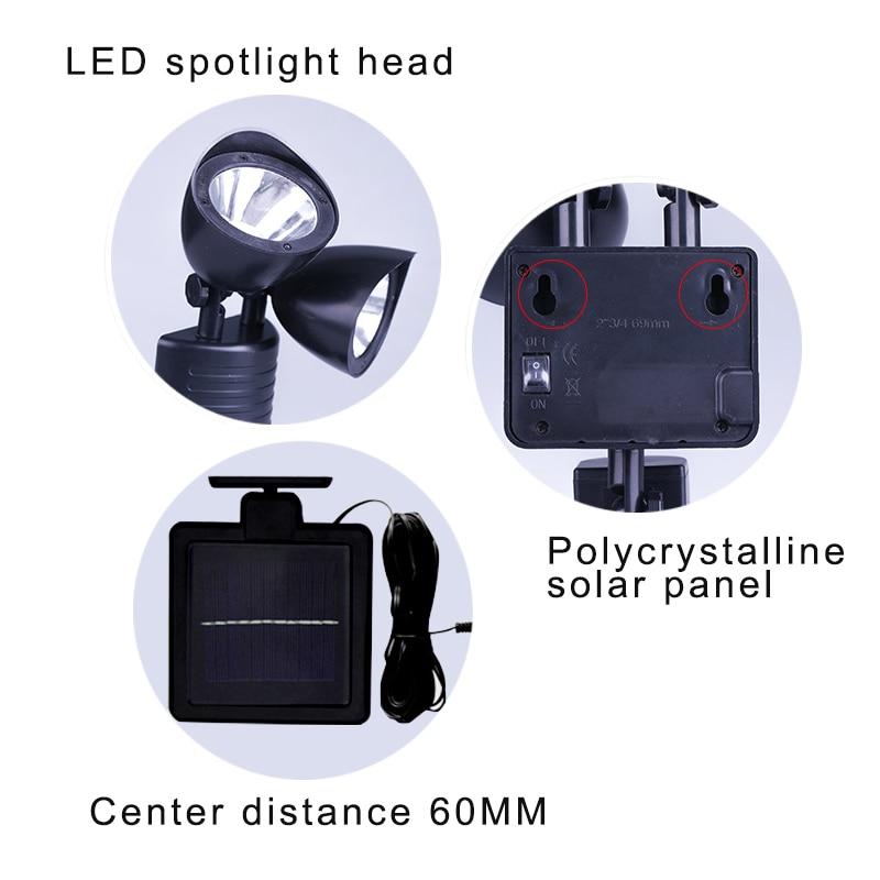 New Hot Dual Security Detector Solar Power Spot Light Motion Sensor 22 LED Floodlight for Outdoor Garden