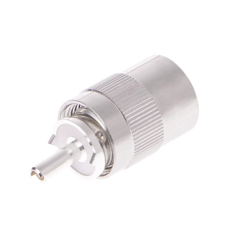 Macho uhf pl259 plug solda rg8 rg213 lmr400 7d-fb conector de cabo prata # aug.26
