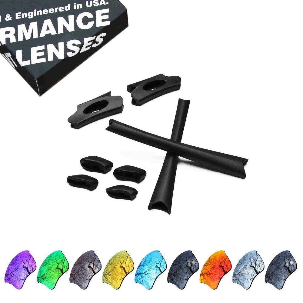 ToughAsNails Resist Seawater Corrosion Polarized Replacement Lenses&Black Rubber Kit for Oakley Flak Jacket XLJ Sunglasses