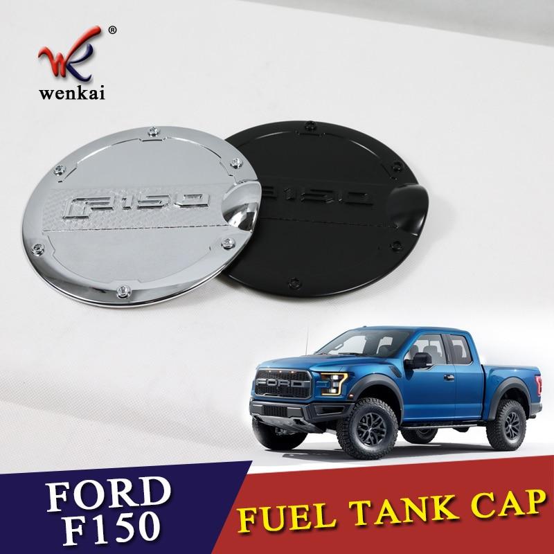 Para ford F-150 tampa de gás porta enchimento combustível do carro petro capa guarnição automóvel cromo abs estilo molduras acessórios 2016 2017