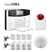 SmartYIBA     systeme dalarme domestique sans fil  sirene vocale  GSM  SMS  russe  francais  espagnol  italien  tcheque  capteur de fumee dincendie