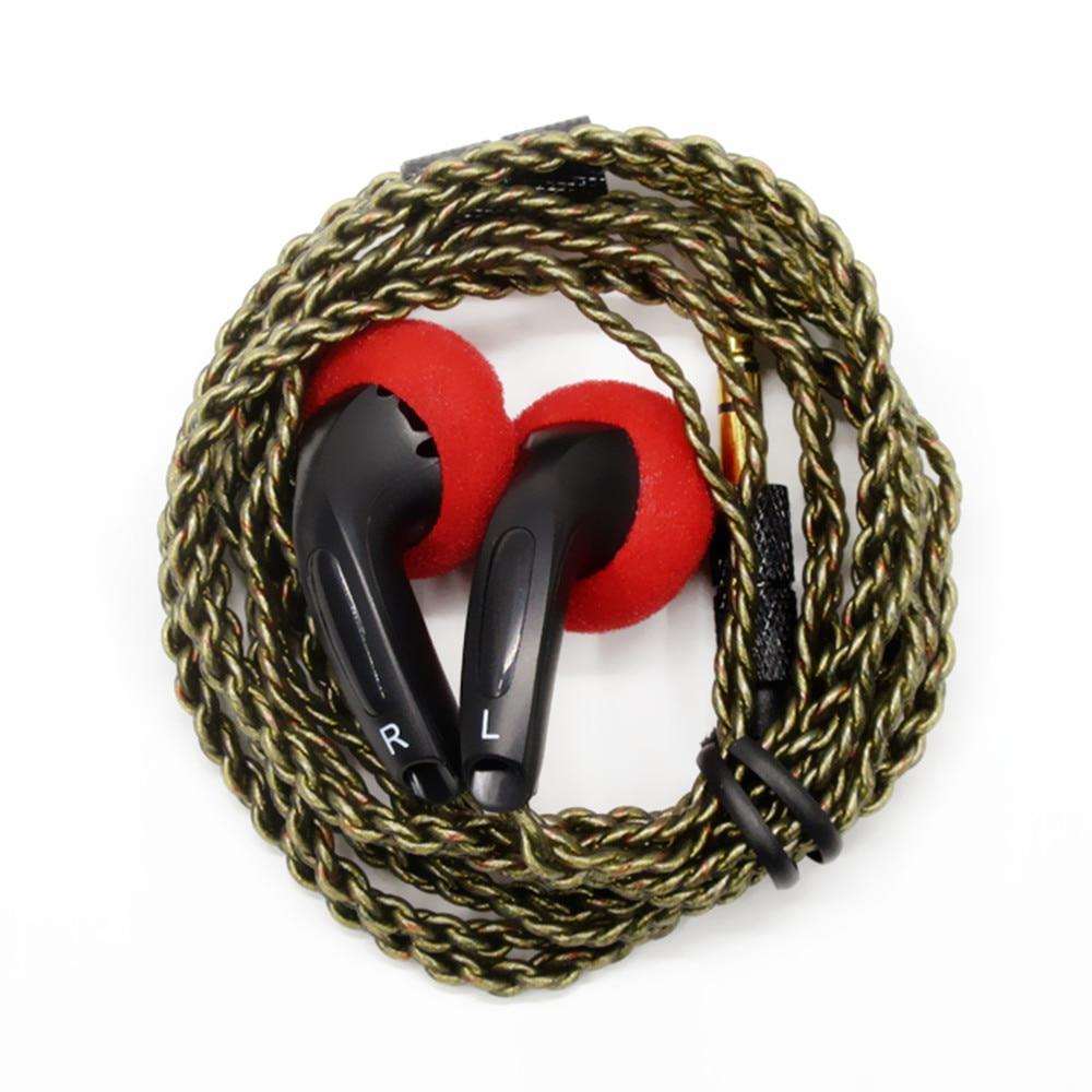 Newest FENGRU DIY EMX500 In-ear Earphones Flat Head Plug DIY Earphone HiFi Bass Earbuds DJ Earbuds H