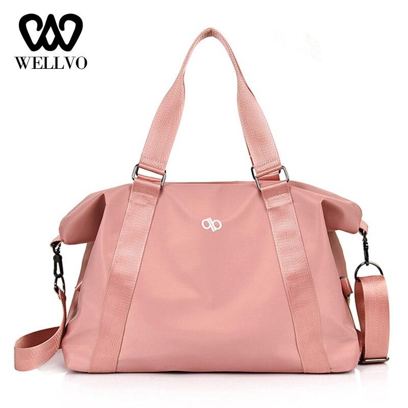 Moda bolsa de nailon bolsa de viaje y equipaje para mujer bolsa de fin de semana señoras de gran capacidad saco bolsos xa75wb