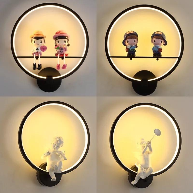 LED 220V110V indoor lighting children's bedroom bedside lamp study bathroom living room balcony bathroom wall lamp