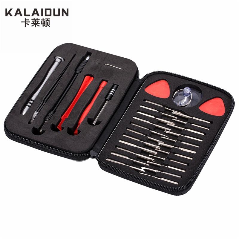 Juego de destornilladores multifunción KALAIDUN 32 en 1 de precisión, mantenimiento de teléfonos móviles, ordenador pequeño, desmontaje, conjunto de herramientas de mano