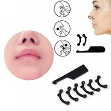 6Pcs/Set Beauty Nose Up Lifting Bridge Shaper Massage Tool No Pain Nose Shaping Clip Clipper Women G