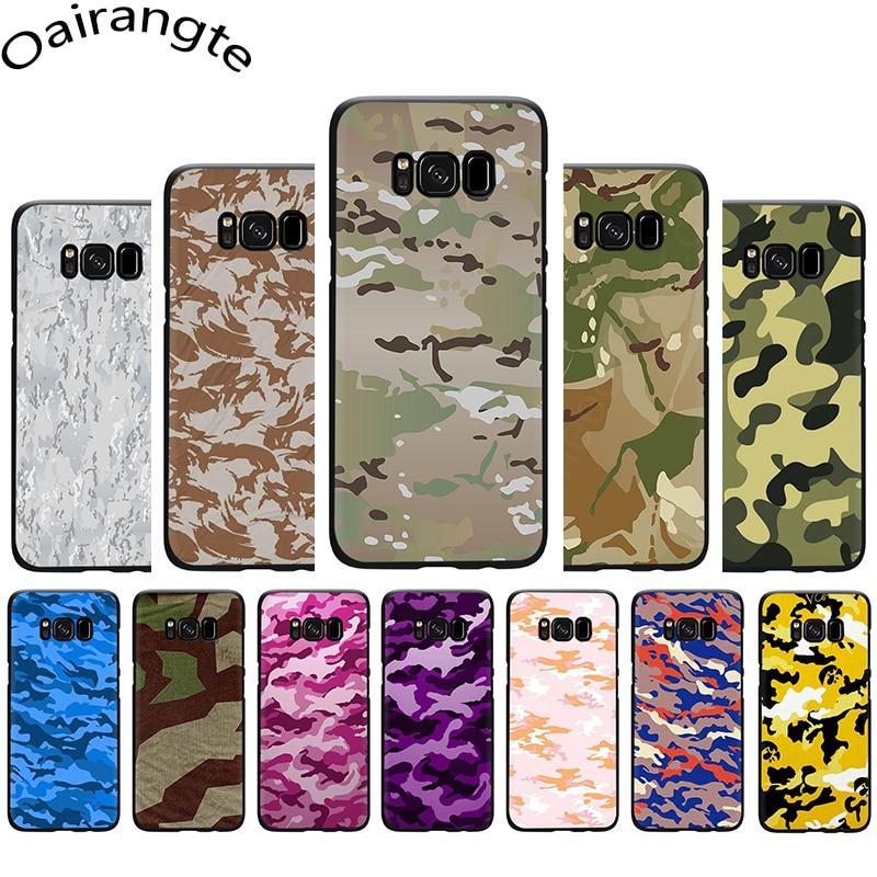 Patrón de camuflaje militar ejército suave funda de teléfono para Samsung S7 S6 Edge S8 S9 10 Plus S10e Note 8 9 10 M10 M20 M30 M40