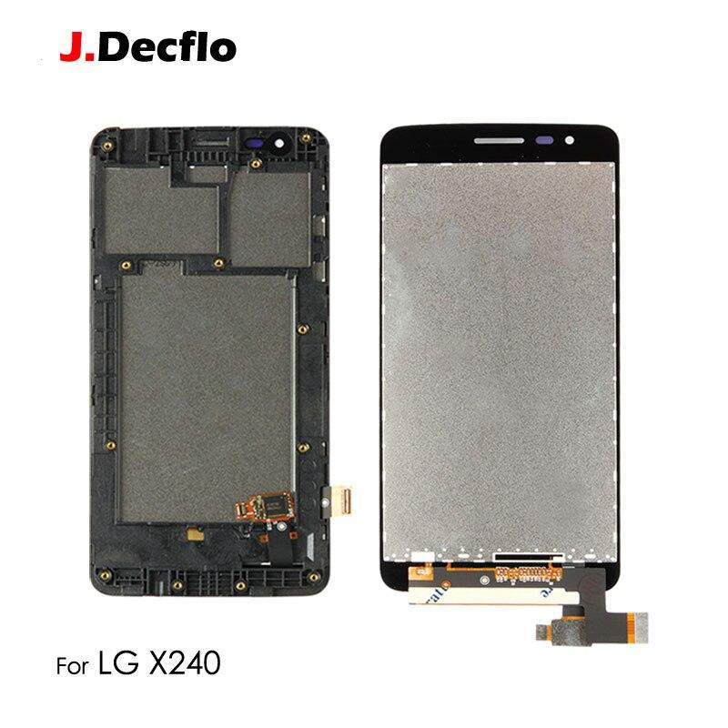 "Reemplazo para LG X240 K8 2017 LCD pantalla táctil con/sin marco digitalizador montaje completo 100% probado Original 5 ""Negro"
