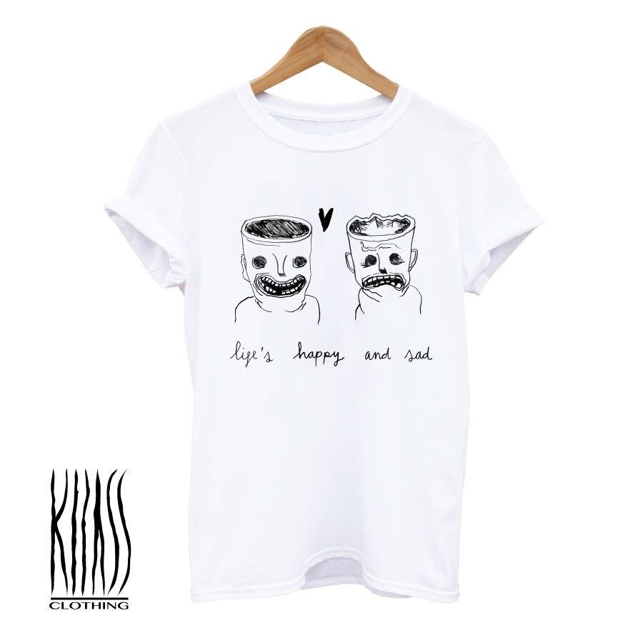 Vida, T-shirt, T-shirt dos homens, mulher, Banda, Grunge, Hipster, Skate, Surf, música, 90s Unisex Nova Moda t camisa Dos Desenhos Animados t shirt homens Soltos