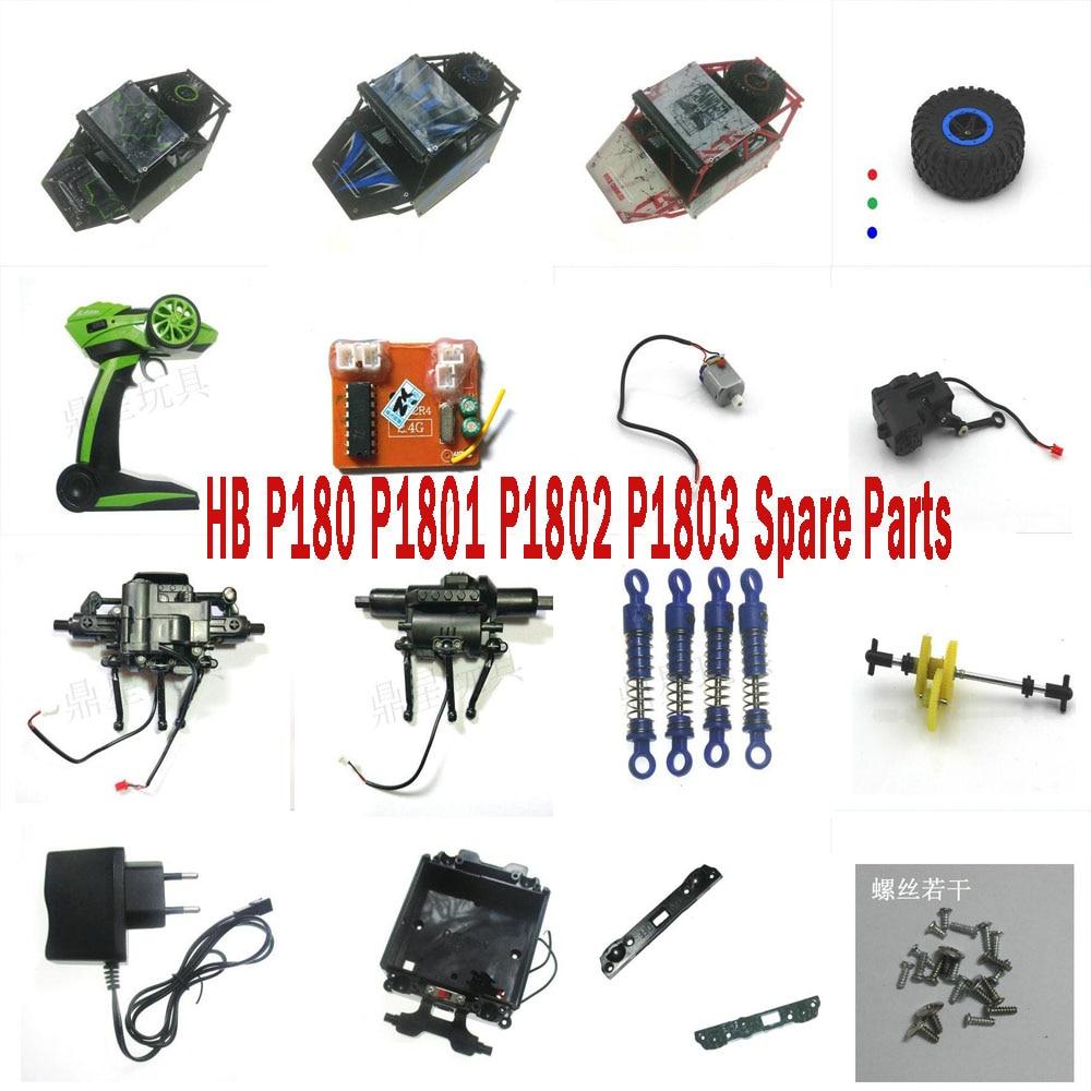 HB 1:18 2.4G RC Car P180 P1801 P1802 P1803 Spare Parts Motor servo Receiver Remote Controller tire Wheel shock absorber frame