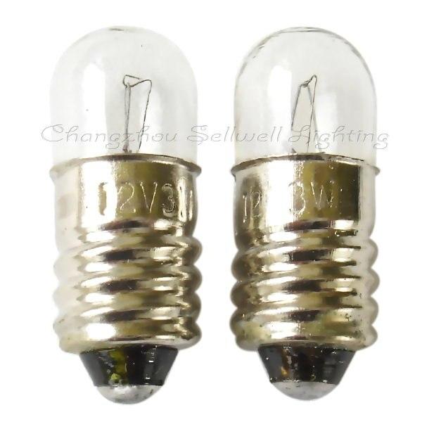 Free Shipping 12v 3w E10 T8.5x24 New!miniature Lighting Lamps A361