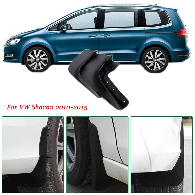 4pcs Premium Heavy Duty Molded Splash Mud Flaps Guards Fenders For VW Sharan 2010-2015