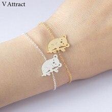 V Attract Australian Animal Jewelry Cute Koala Bracelet For Women 2017 Stainless Steel Chain Pulsera Souvenir Gift