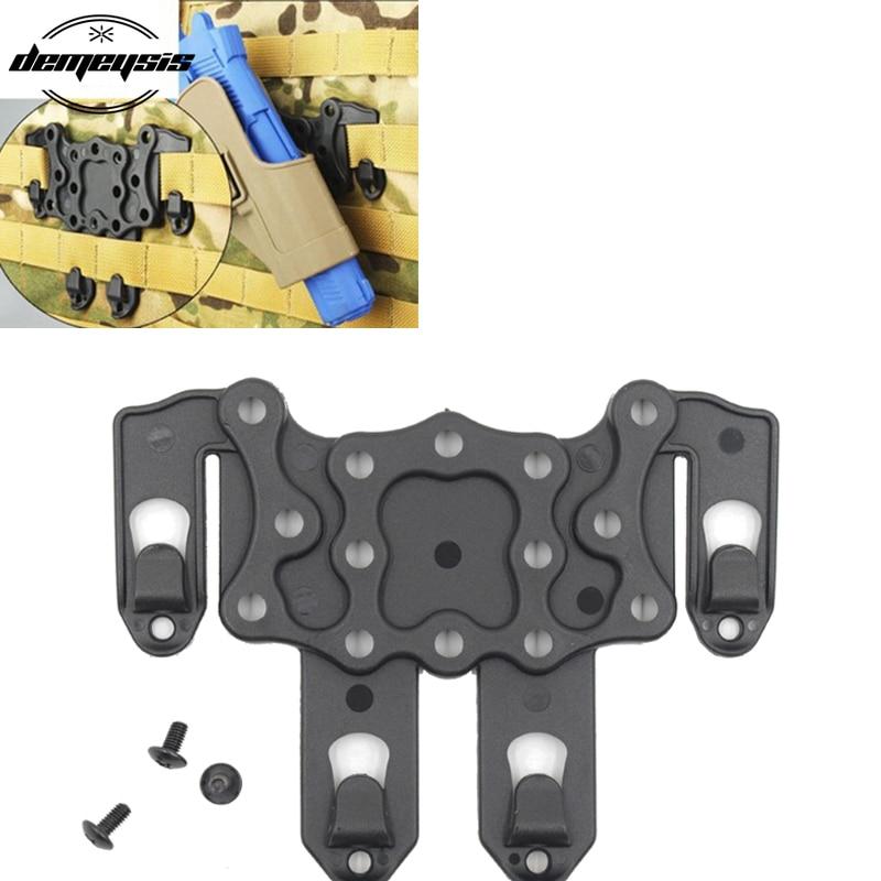 Molle plataforma táctico chaleco pistola gancho de funda Airsoft pistola pistolera plataforma de montaje sistema adaptador de plataforma de ataque