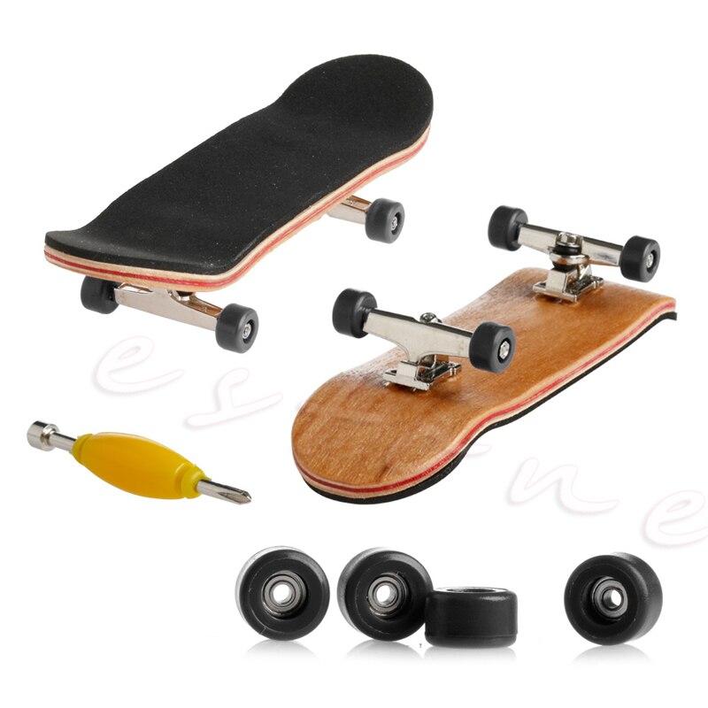 1 unidad de diapasón de cubierta de madera, monopatín, juegos deportivos, regalo para niños, juego de madera de arce, nuevo w15