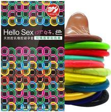 10 pièces de préservatifs de couleur Multiple Innocent Fun 10 préservatifs ajustés en gros pour les femmes excitées orgasme produits sexuels jouets sexuels pour les hommes