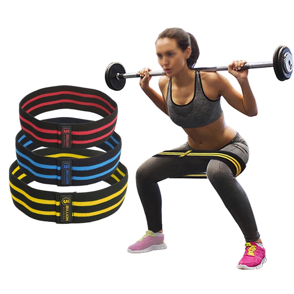 5 mil millones de bandas de resistencia para la cadera bandas de ejercicio Premium para el muslo del botín Glutes suave no-diseño antideslizante Loop Set
