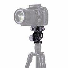 Tête de photographie panoramique PULUZ à 2 voies avec tête de trépied panoramique/inclinable avec plaque de dégagement rapide et 3 niveaux à bulles pour trépied dappareil photo reflex numérique