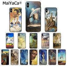 MaiYaCa Salvador Dali Art Silicone souple noir étui de téléphone pour iPhone X XS MAX 6 6s 7 7plus 8 8plus 5 5S SE XR couverture