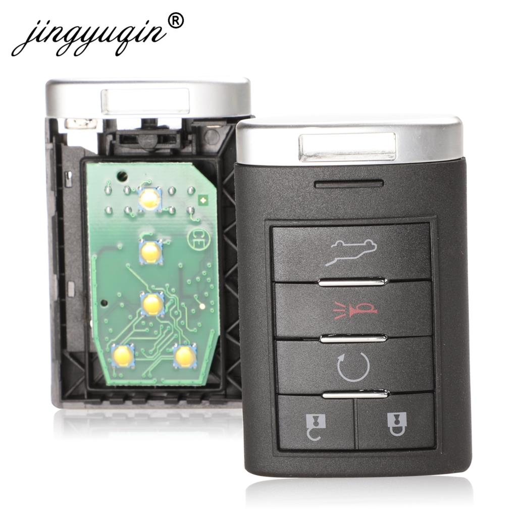 Jingyuqin 315 МГц/433 МГц NBG009768T бесключевая запись для Cadillac SRX CTS XTS DTS 2010 2011 2012 2013 2014 5 кнопок дистанционного ключа автомобиля