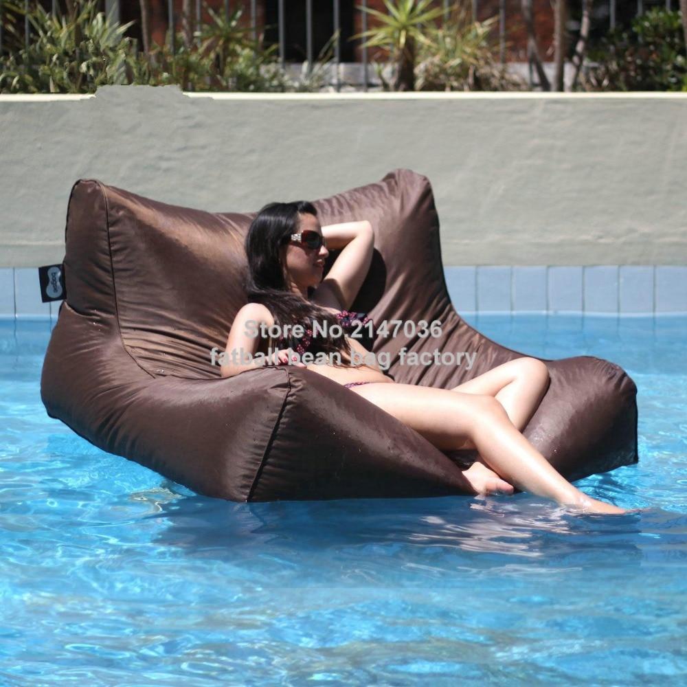 ¡Gran diversión! ¡venta al por mayor! bolsa de frijol de piscina impermeable para muebles flotantes, asiento de sofá, silla de natación
