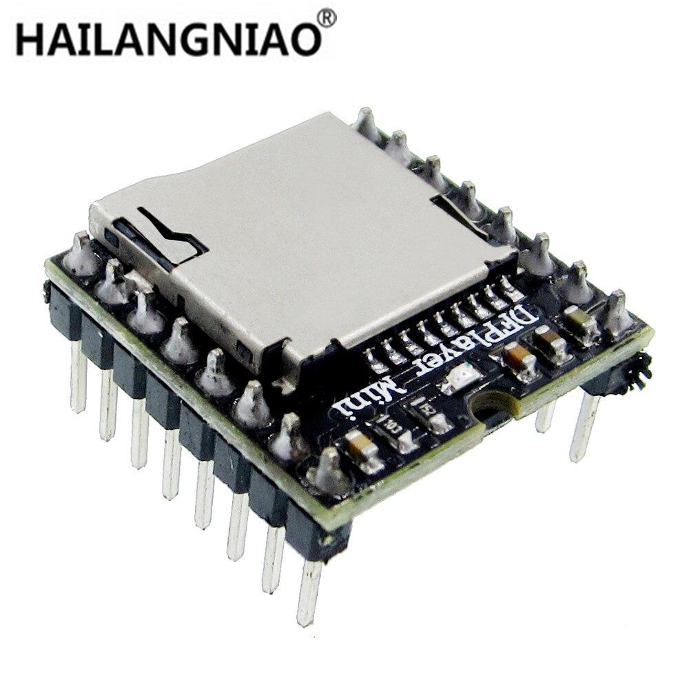 10pcs Mini MP3 Player Module TF Card U Disk Mini MP3 Player Audio Voice Module Board DF Play Wholesale