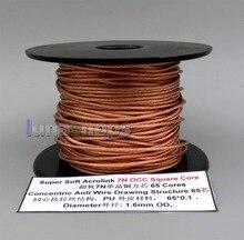 LN005994 100m Super doux Acrolink 7N OCC noyau carré 65 noyaux PU 65*0.1mm câble métallique 1.6MM