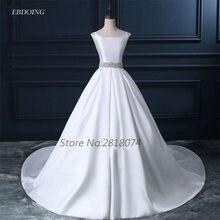 Vestidos de novia 웨딩 드레스 a 라인 화이트 보트 넥 넥 라인 로브 드 mariage 웨딩 드레스와 파란색 된 새시